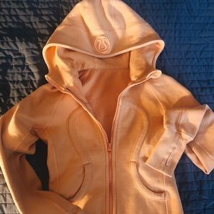 LULULEMON Orange Zip-Up Hoodie!